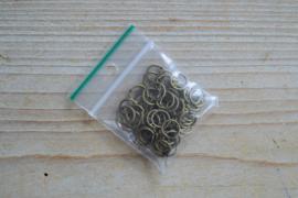 Bronskleurige ringetjes open 8 mm ca. 50 stuks