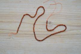 Oranje Granaat gefacetteerde ronde kralen ca. 3 mm A klasse (seedbeads)