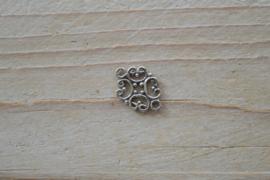 Tussenstuk sterling zilver Sier ca. 13 x 16 mm
