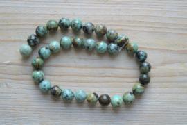 Afrikaans turquoise ronde kralen 12 mm