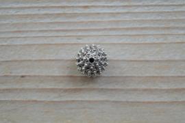 Kraal sterling zilver ca. 12,5 mm