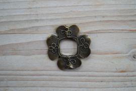 Bronskleurige hanger klavertje 4 ca. 42 mm