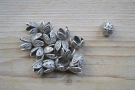 Metalen kraalkap ca. 13 x 14 mm per stuk
