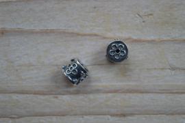 Kraal sterling zilver ca. 8,6 x 8,8 mm
