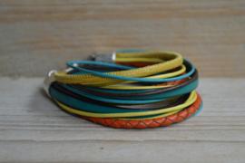 DIY Pakket Armband XL G Oranje/Turquoise/Geel
