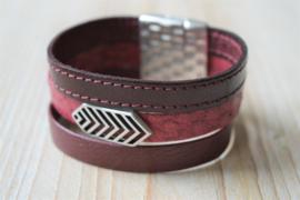 DIY Pakket Armband met magneet en schuiver Bordeaux A
