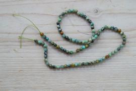 Afrikaans turquoise gefacetteerde ronde kralen 4 mm