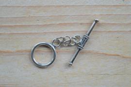 Kappitelsluiting sterling zilver groot ca. 15,5 mm