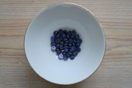 Lapis Lazuli coin cabochon ca. 8 mm A klasse (bijgekleurd)