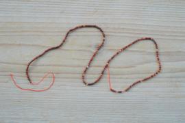 Poppy jaspis ronde kralen ca. 2 mm (seedbeads)