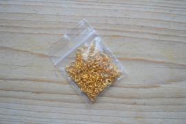 Goudkleurige ringetjes open ca. 4 mm