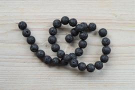 Zwart lavasteen ronde kralen 12 mm