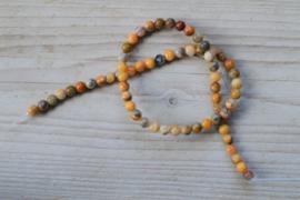 Crazy Lace Achat runde Perlen 6 mm
