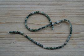 Mos Achat runde Perlen 4 mm