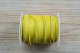 Rundleer 2 mm Geel per meter
