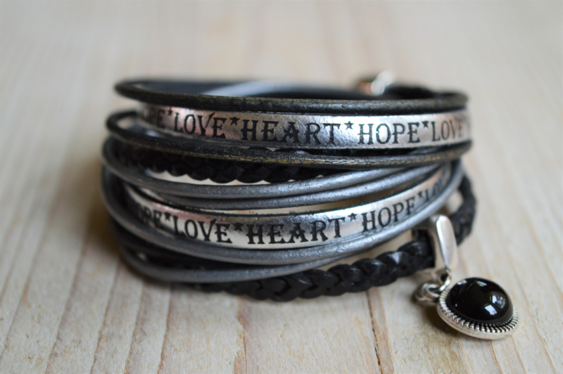 Leather Wrap Hope Heart Love