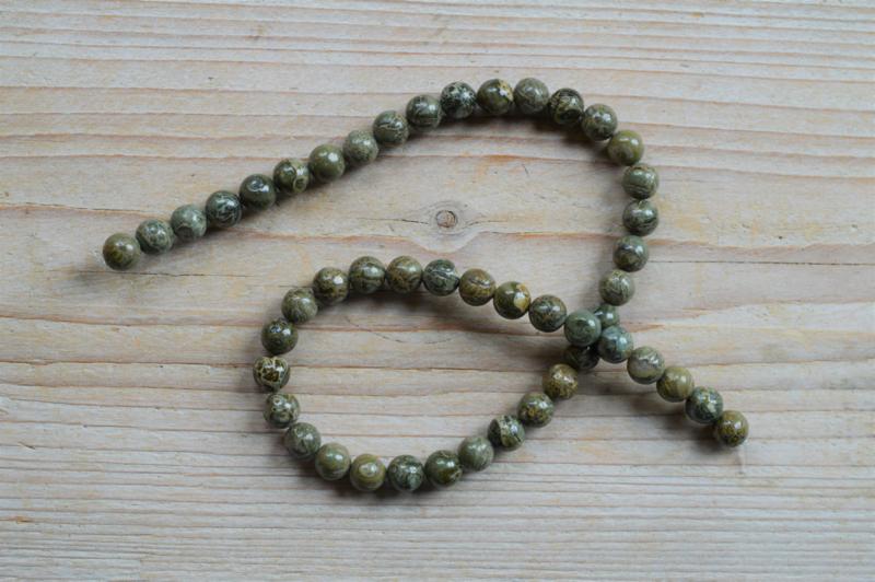 Grün Brecci Jaspis runde Perlen 8 mm