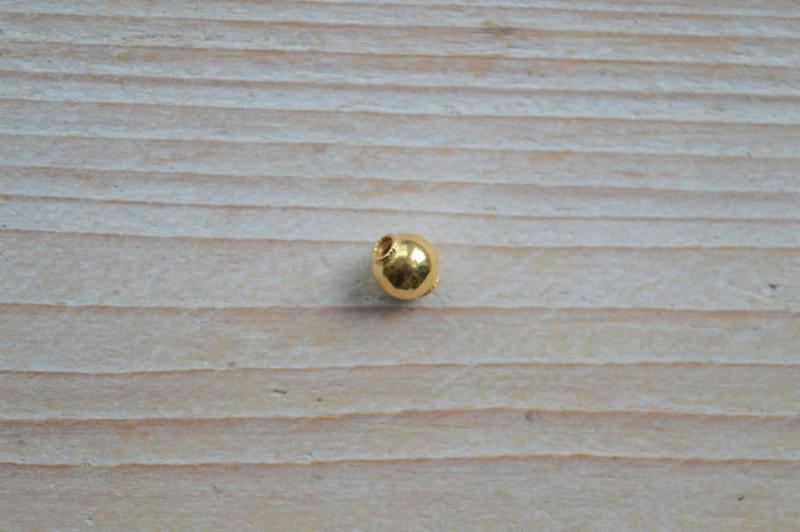 Kraal verguld sterling zilver ca. 7,5 x 6 mm
