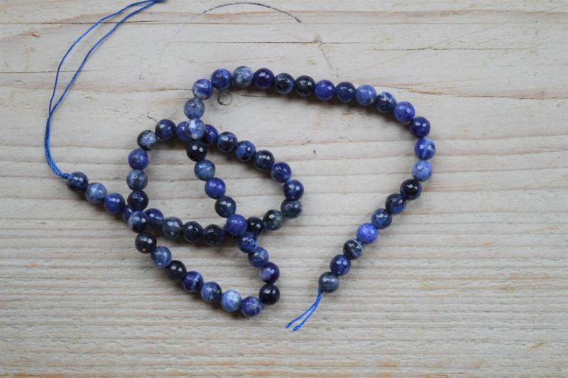Sodalith facettierte runde Perlen 6 mm A klasse