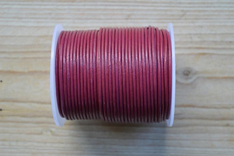 Rundleer 2 mm Fuchsia per meter