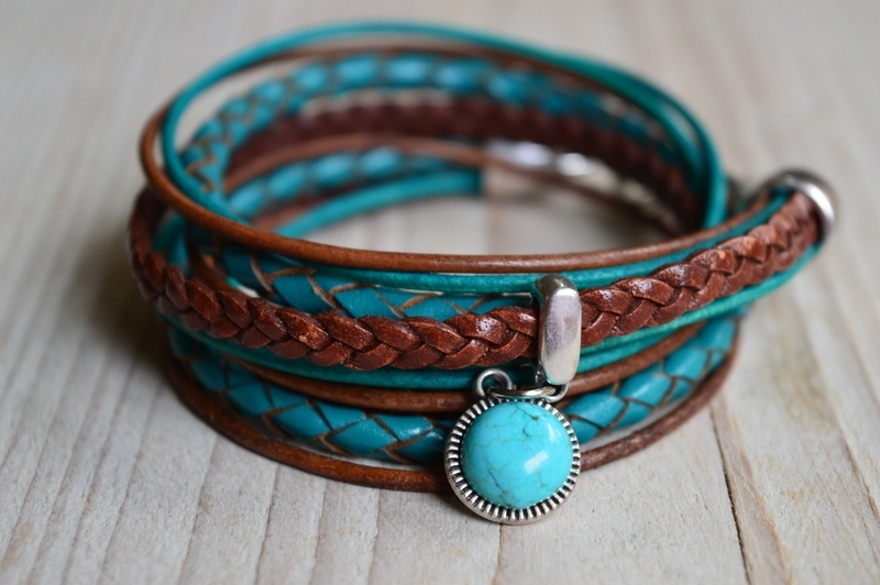 Leather Wrap Turquoise