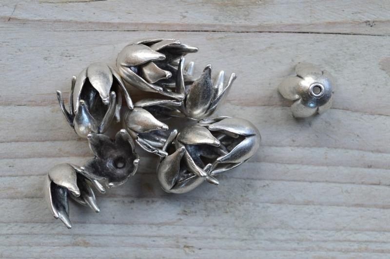 Metalen perlenkap ca. 15 x 15 mm pro stück
