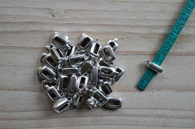 Metalen schieber für charme 5 mm ca. 4 x 12 mm pro stück