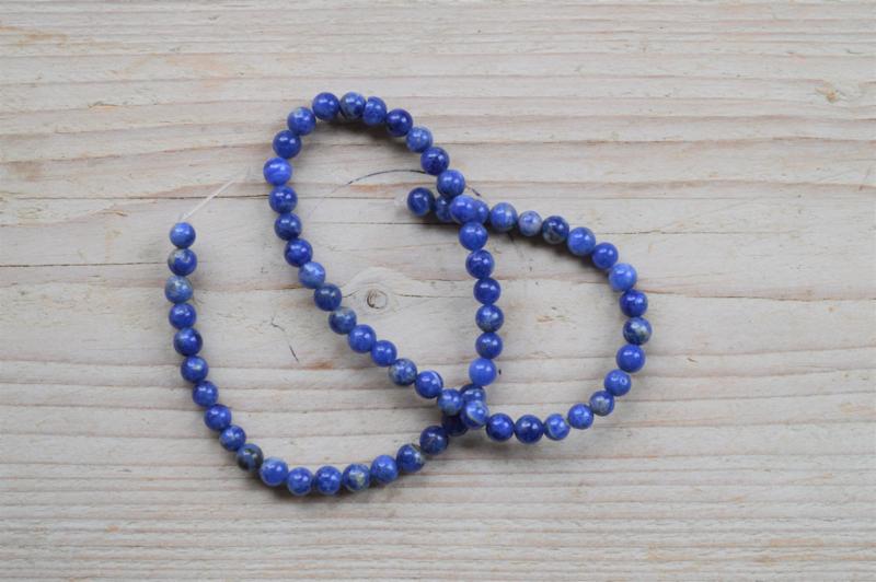 Sodalith runde Perlen 6 mm A klasse