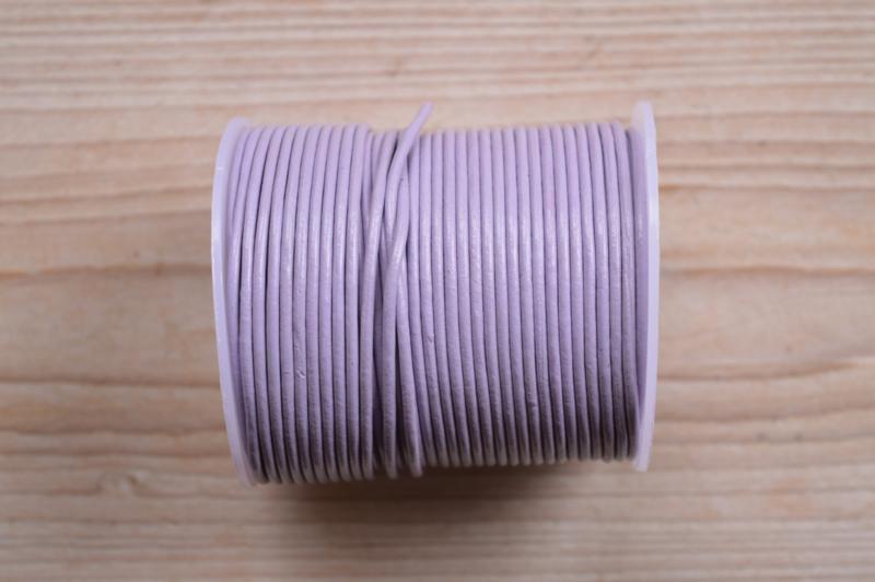 Rundleer 2 mm Lila per meter