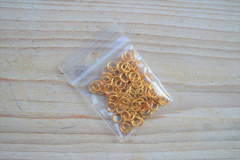 Goldfarbige Biegeringe 6 mm