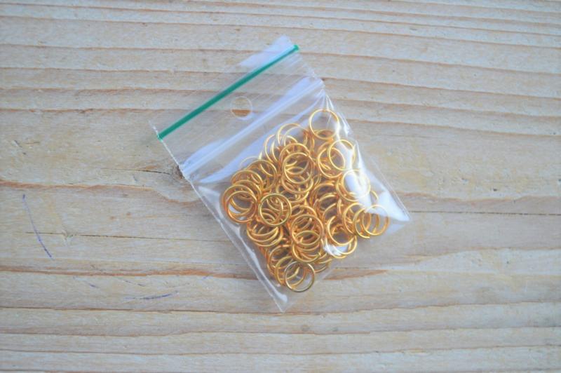 Goldfarbige Biegeringe 8 mm