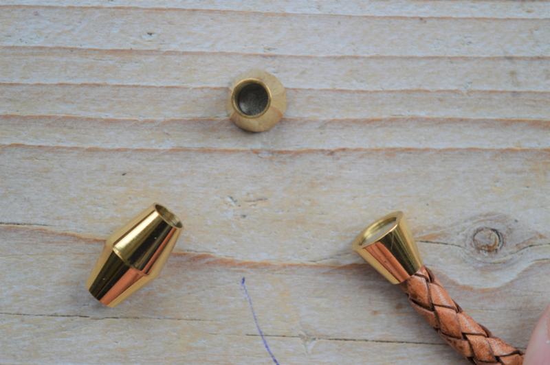 Metalen magneetsluiting 5 mm goud (roestvrij staal) ca. 10 x 16 mm per stuk
