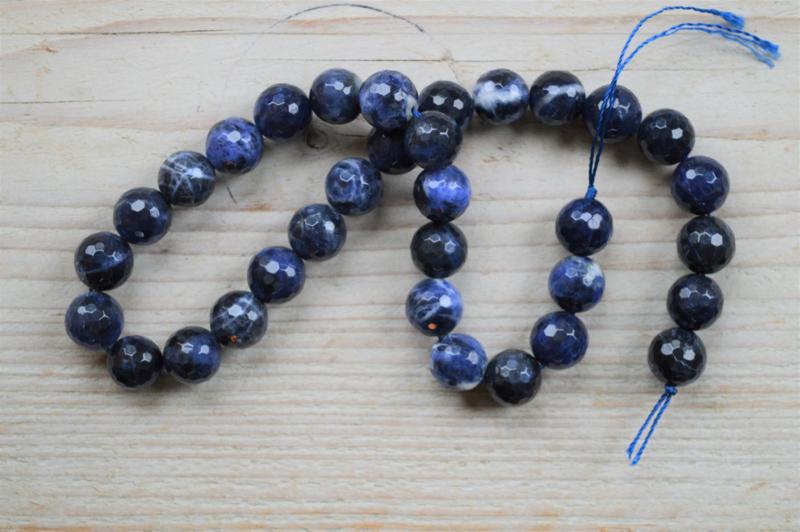 Sodalith facettierte runde Perlen 12 mm A klasse