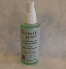Schoonmaakvloeistof (desinfectie) gehoorbescherming - otoplastieken - In Ear
