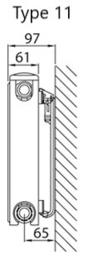 Henrad Softline  4 Plus type 11 hoogte 600