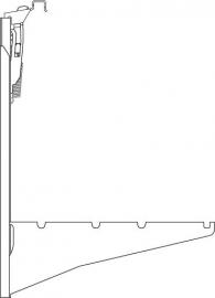 Plint wandconsole type 44 kleur RAL9016