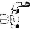 Heimeier radiatorkraan 1/2 recht met bocht