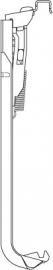 Plint wandconsole type 22 kleur RAL9016