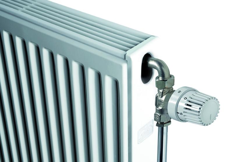 radiator met zij en bovenrooster