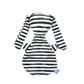Knijntje DeLuxe | off-white & black streep