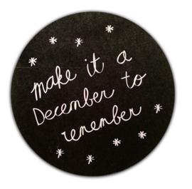 Cadeausticker | Make it a december to remember