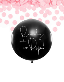 Ready to pop!   Gender reveal ballon (1m)  GIRL