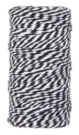 Touw | zwart-wit |  5 meter