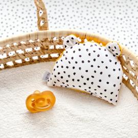 Rammelbeestje BOR   monochrome dots & oker