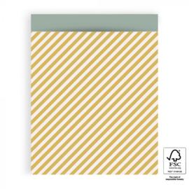 Inpakzak | Stripes Diagonal Yellow | 27x34CM