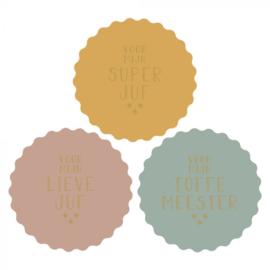 Stickers Multi | Juf/Meester | 55MM