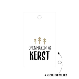 Cadeau label | Openmaken @ kerst