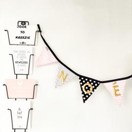 Mini slinger | 1 meter | Monochrome&roze