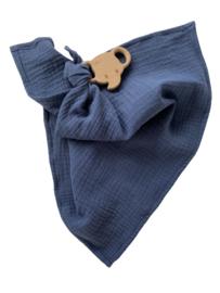 Knuffeldoekje | Denim blauw