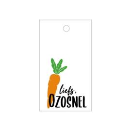 Cadeaulabel Sint   Liefs Ozosnel